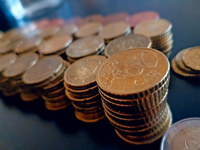 50 centů, evropská měna, komín