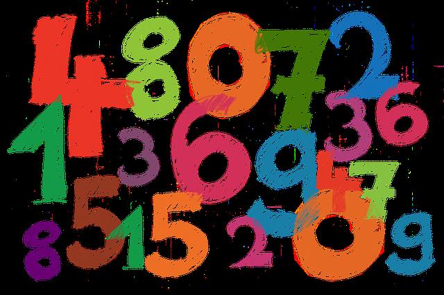 namalovaná čísla